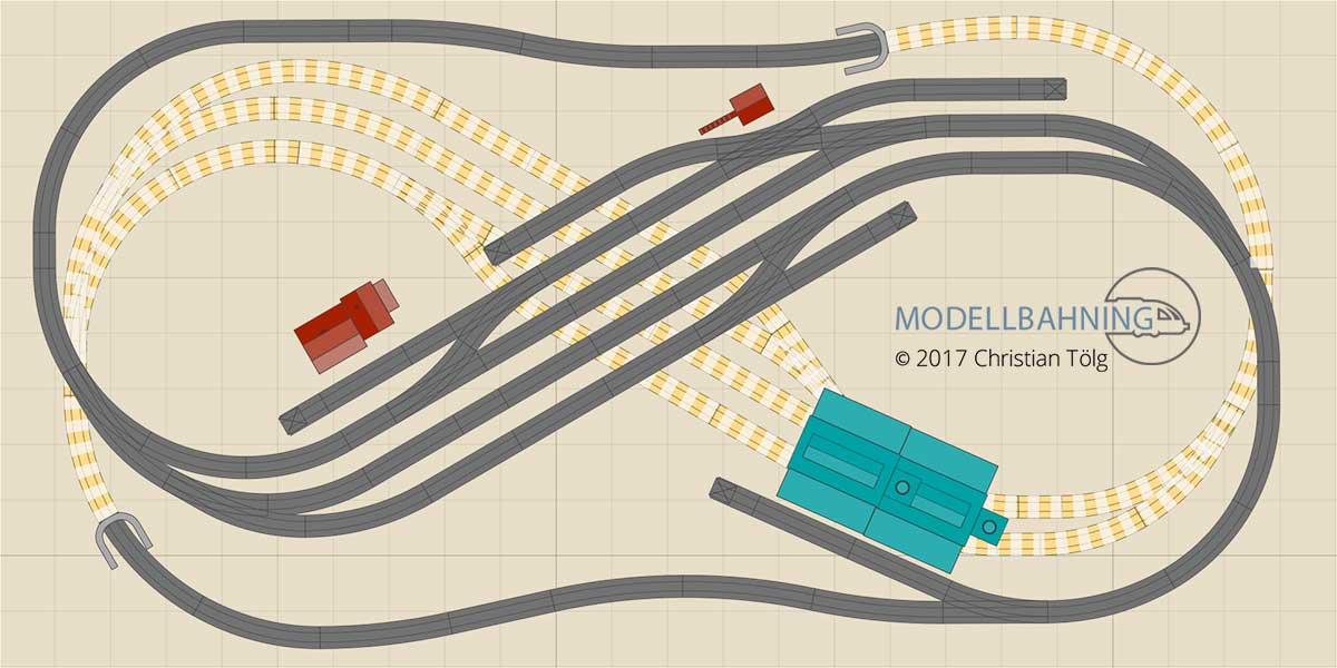 Gleisplan kompakte 8 mit dem Märklin C-Gleis