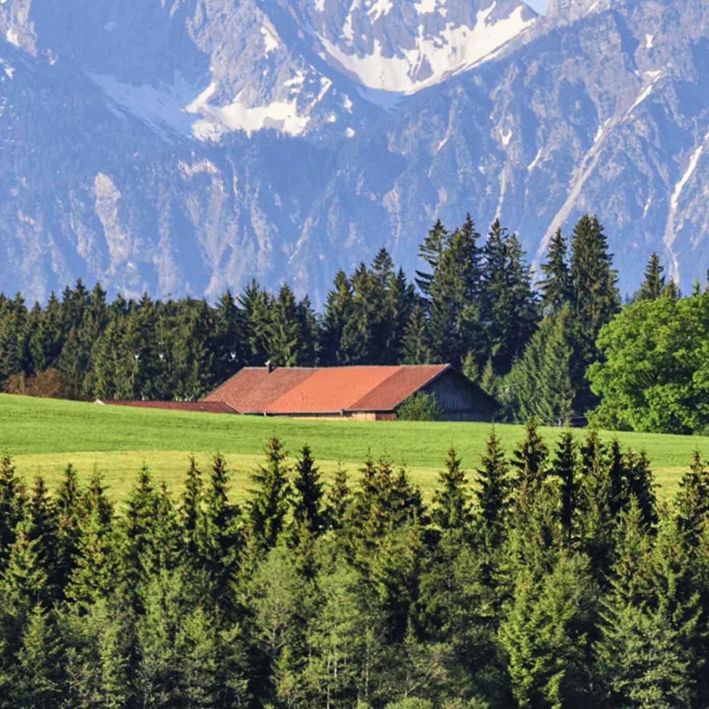 Bayern mit Alpenbergen Teil 3 – Modellbahn Hintergrund 300cm x 70 cm 5