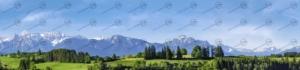 Bayern mit Alpenbergen Teil 2 – Modellbahn Hintergrund 300cm x 70 cm 1
