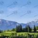 Bayern mit Alpenbergen Teil 2 – Modellbahn Hintergrund 300cm x 70 cm 10