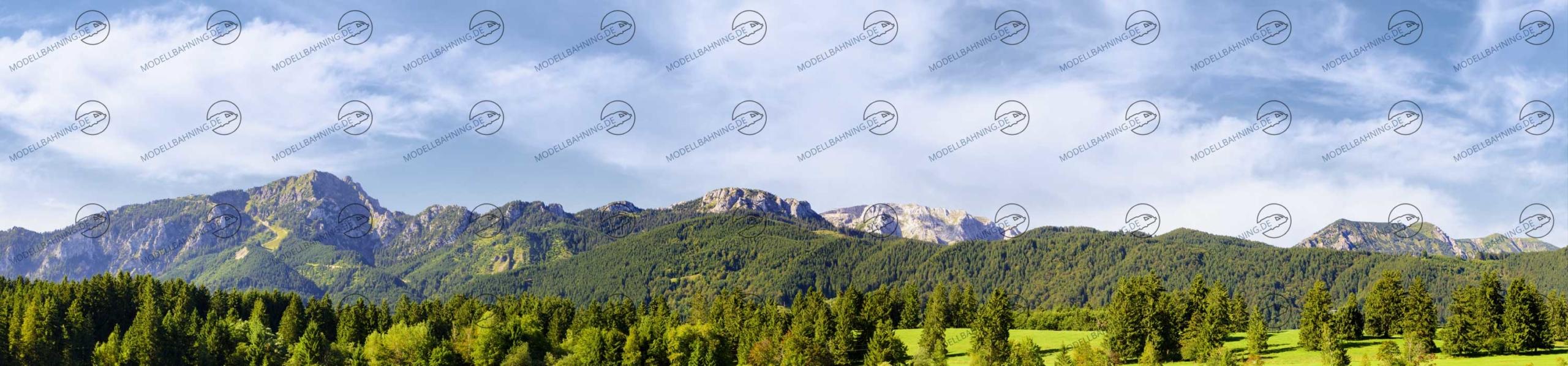 Bayern mit Alpenbergen Teil 4 – Modellbahn Hintergrund 300cm x 70 cm 4