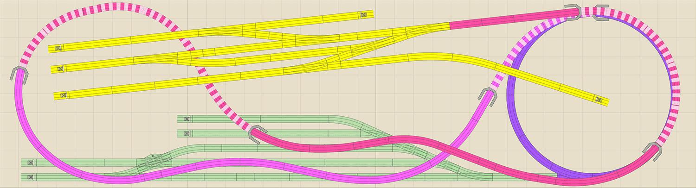 H0 Gleisplan: Eingleisige Spirale mit Endbahnhof auf 3,7 x 1 Meter 1