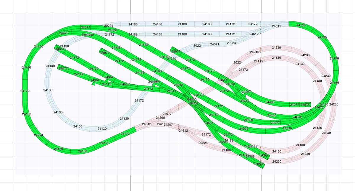 kompakter H0 Gleisplan für Spielspaß auf 2,5 x 1,3 m