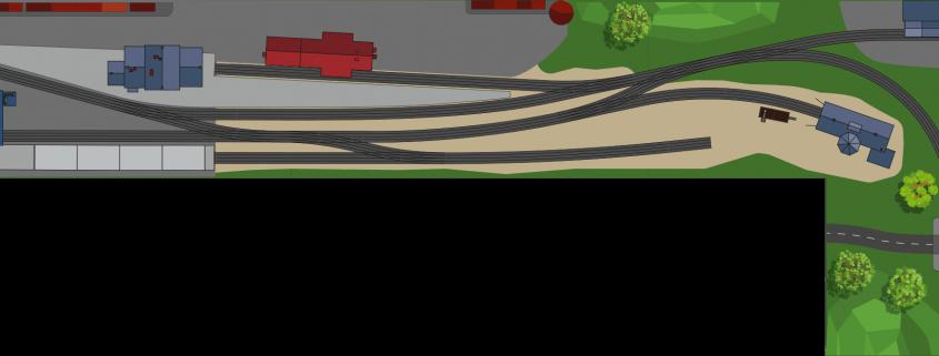 Endbahnhof H0 Gleisplan PIKO A Gleis