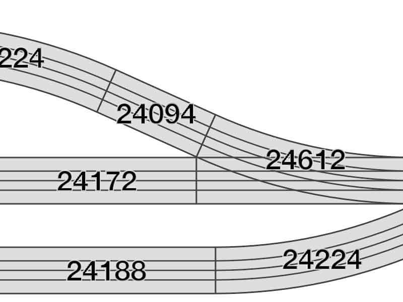 Auschnitt des Gleisplans mit Artikelnummern