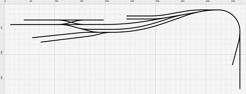 Gleisplan mit zweiständigem Lokschuppen