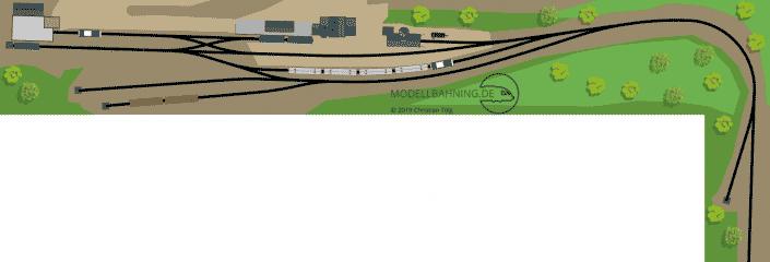 H0 Gleisplan Endbahnhof Gräfenberg in Franken