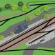Endbahnhof Gräfenberg in Franken H0 Gleisplan mit dem Roco Line Gleis auf 4,8 x 0,7 m 1