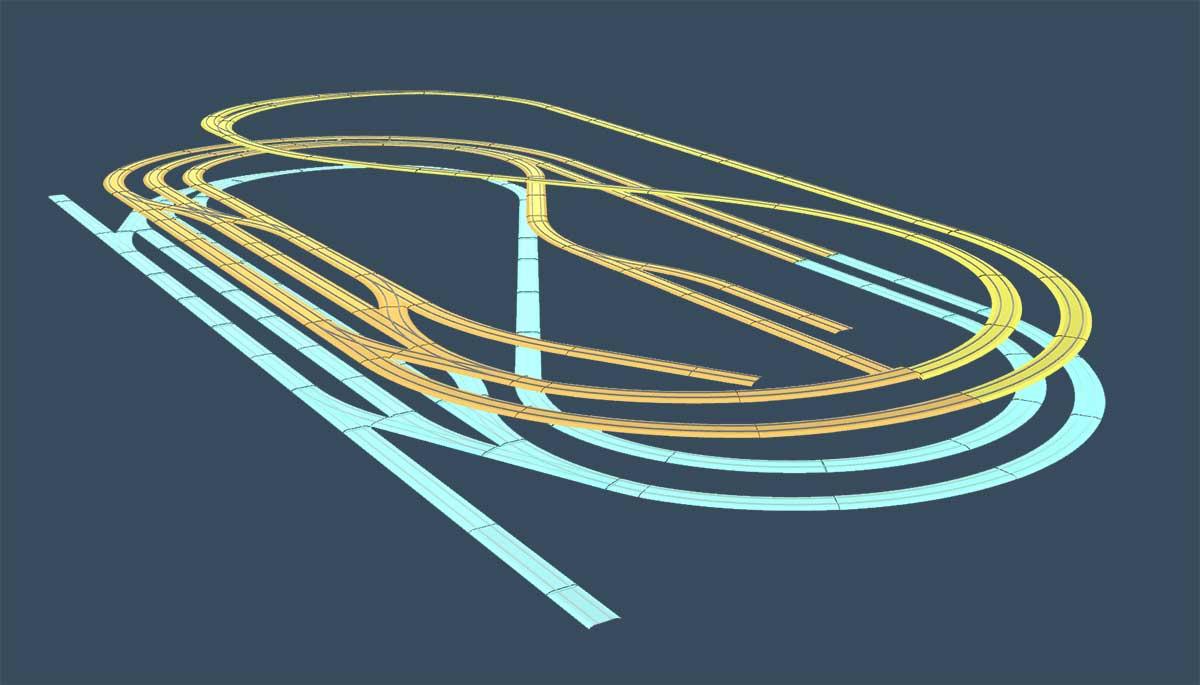 3D Darstellung H0 Gleisplans zum Download