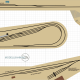 H0 Gleisplan von modellbahning.de Christian Tölg. Erstellt mit dem Roco Line Gleis mit Bettung