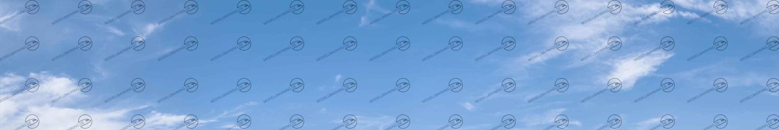 Endloser Himmel Teil 1 – Modellbahn Hintergrund 300cm x 50 cm 1