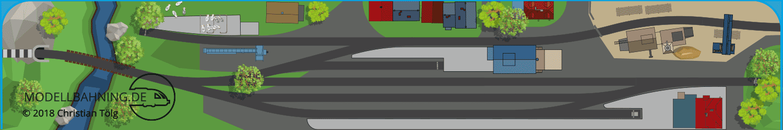 Landbahnhof PIKO A Gleis dreigleisig