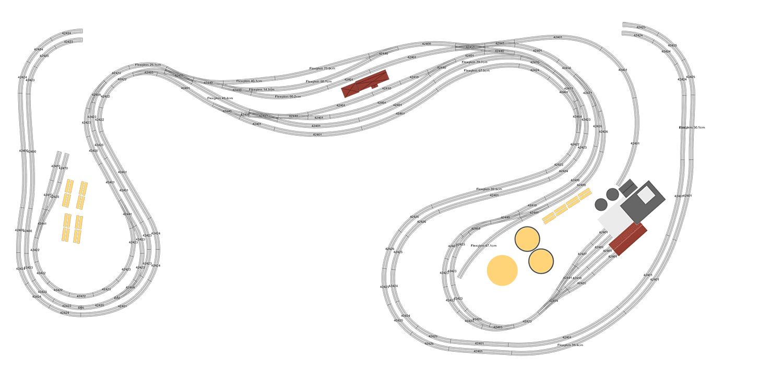 Gleisplan zweispurig durch das Tal der Lavant