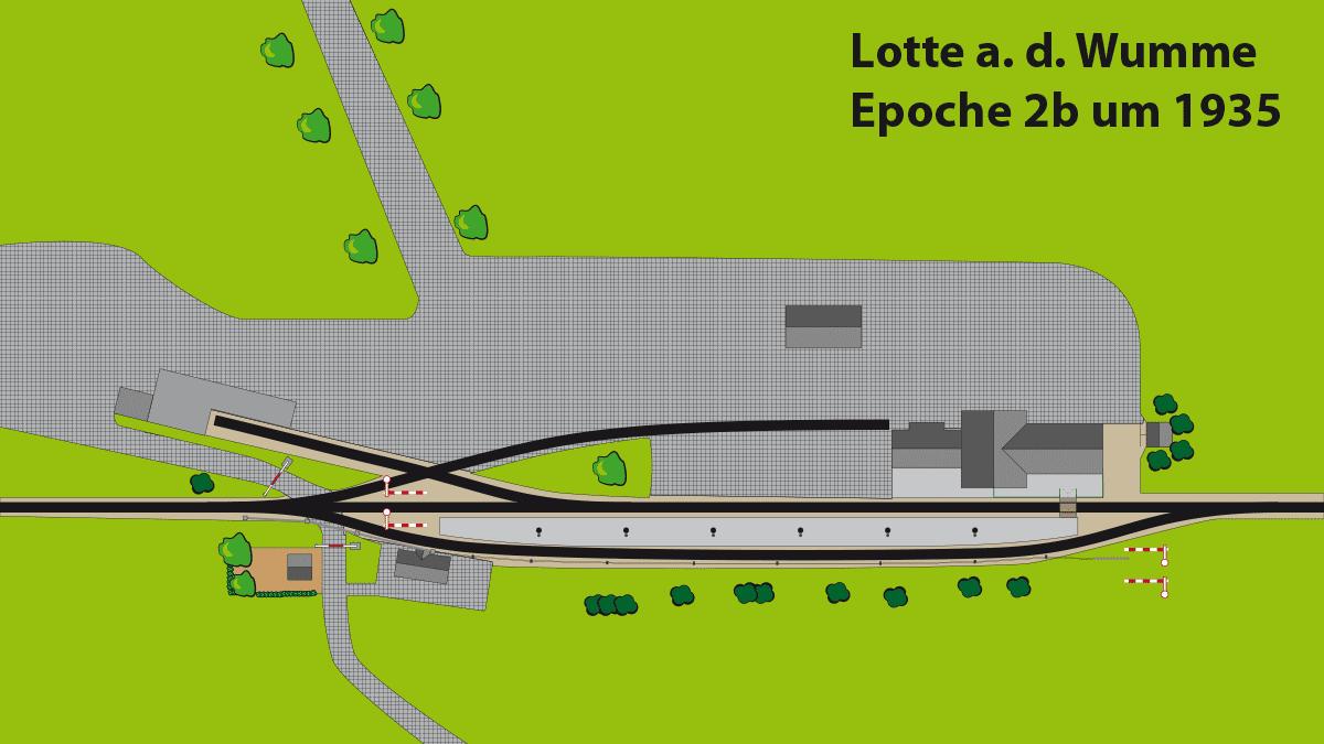 Bahnhof Lotte Epoche 2b ca. 1935