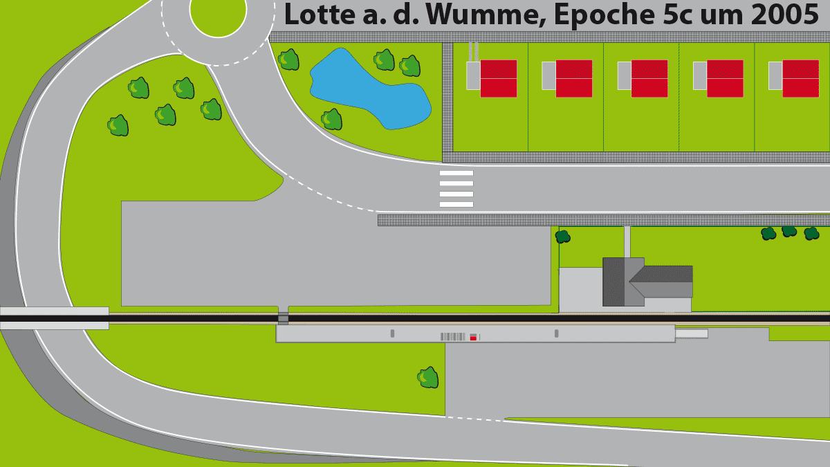 Stilisierte Darstellung Draufsicht Gleisplan Lotte Epoche 5c Modelleisenbahn