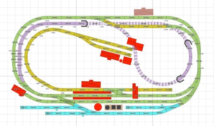 Märklin Gleisplan für viel Betrieb auf wenig Raum 6