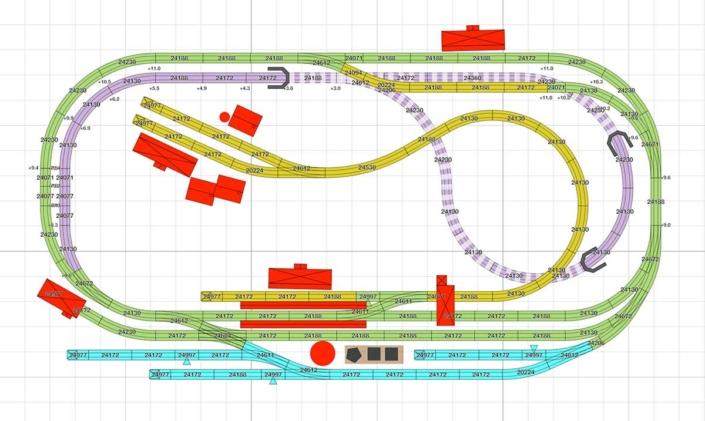 Märklin Gleisplan für viel Betrieb auf wenig Raum 5