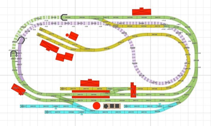 Märklin Gleisplan für viel Betrieb auf wenig Raum 4