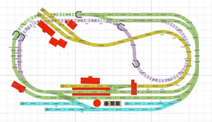 Märklin Gleisplan für viel Betrieb auf wenig Raum 2
