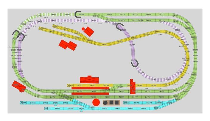 Märklin Gleisplan für viel Betrieb auf wenig Raum 1