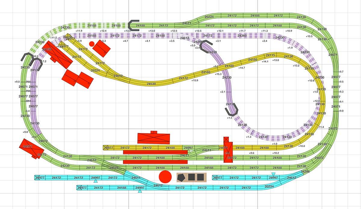 H0 Gleisplan für das C-Gleis: Drei Bahnhöfe auf unter 4 qm: Märklin Gleisplan H0
