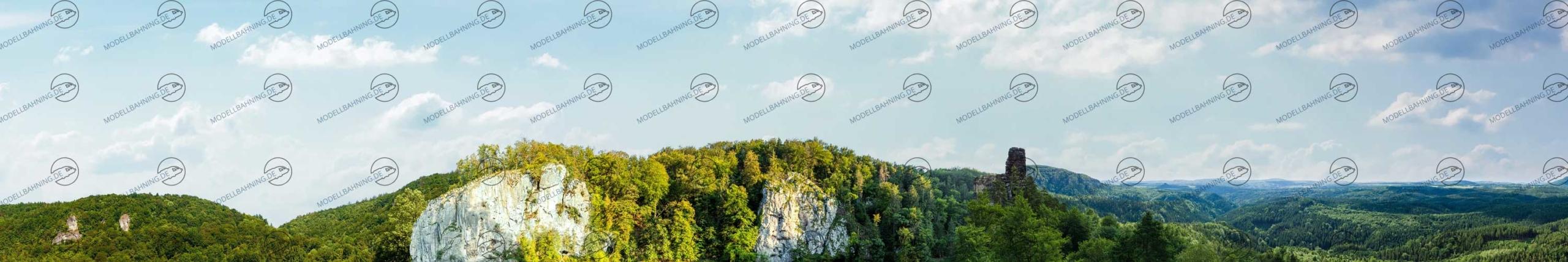 Modellbahn Hintergrund Erweiterung zu Motiv Mittelgebirge