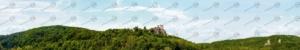 """Mittelgebirge Teil 2 """"Burg Neideck"""" – Modellbahn Hintergrund 300cm x 50 cm 2"""