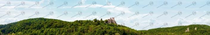 """Mittelgebirge Teil 1 """"Rothenburg"""" – Modellbahn Hintergrund 300cm x 50 cm 5"""
