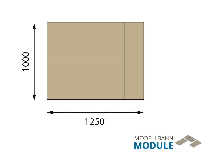 H0 Gleisplan auf 1,25 x 1 m: Mittelberg – Mini-Oval mit Potenzial 3