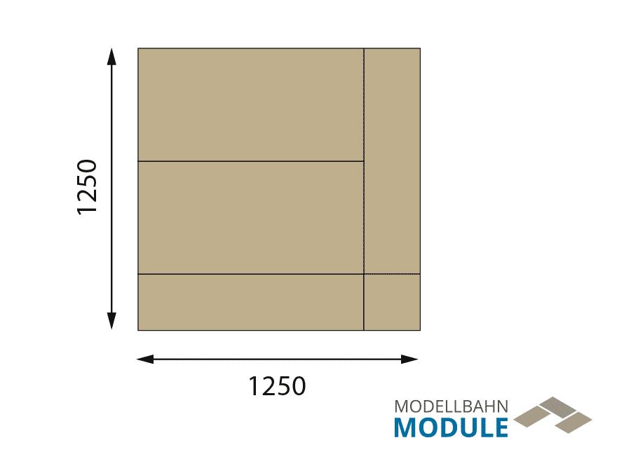H0 Gleisplan auf 1,25 x 1 m: Mittelberg – Mini-Oval mit Potenzial 4