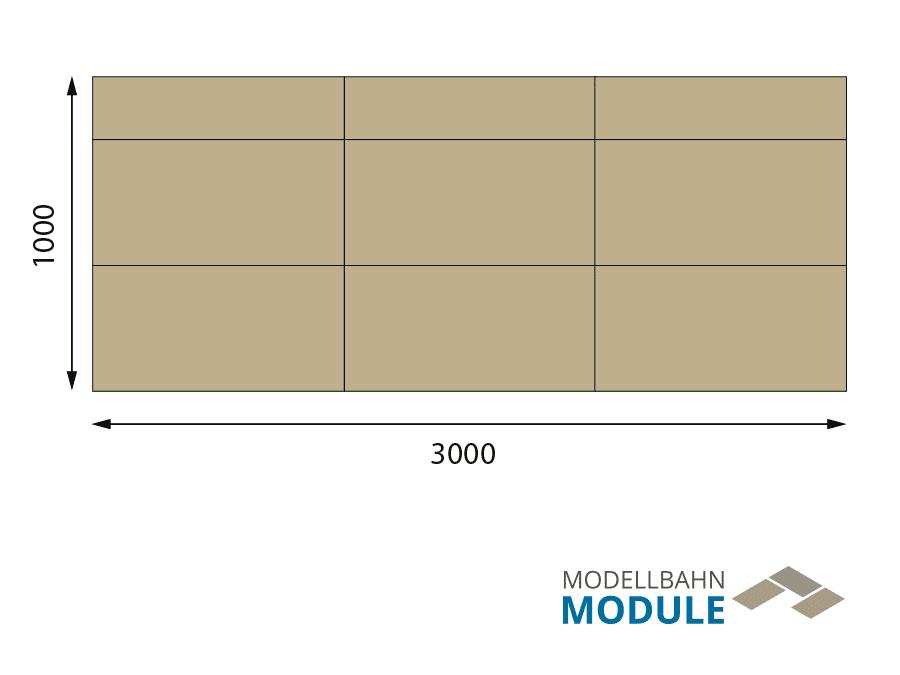 H0 Gleisplan auf 3 x 1,2 m: <br>Zweigleisige Hauptstrecke plus Nebenbahn 1
