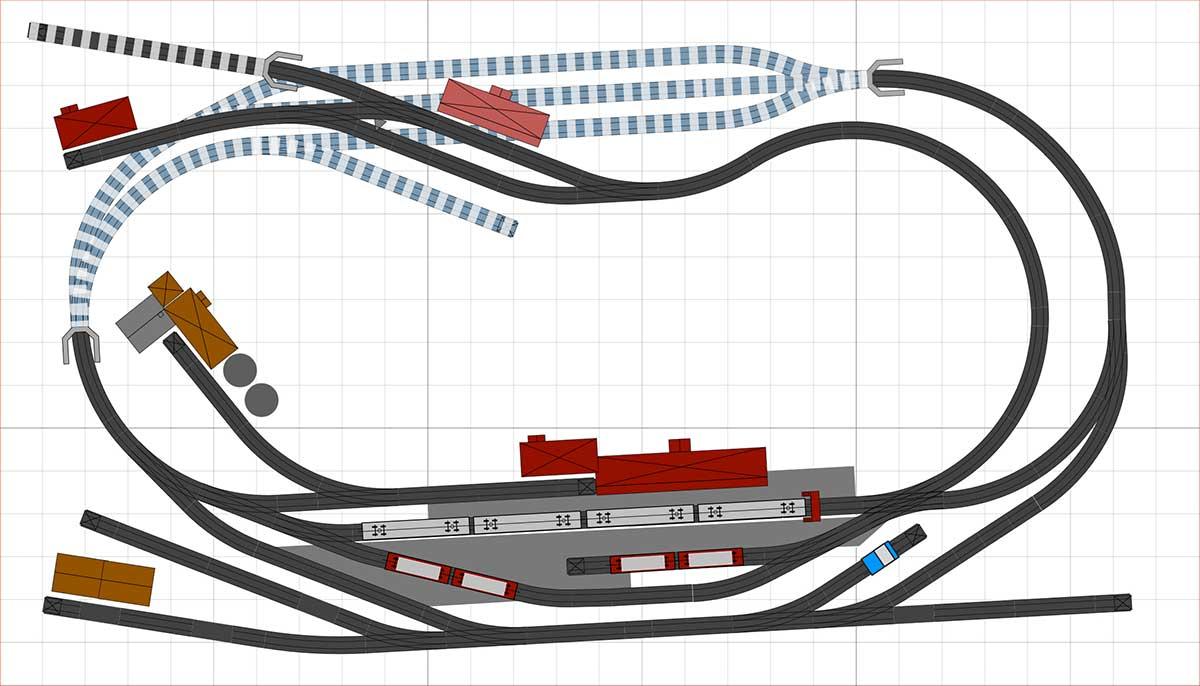 Gleisplan H0 C Gleis Personenverkehr fern und nah