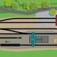 Die Abbildung zeigt ein modellbahntaugliches Bahnbetriebswerk