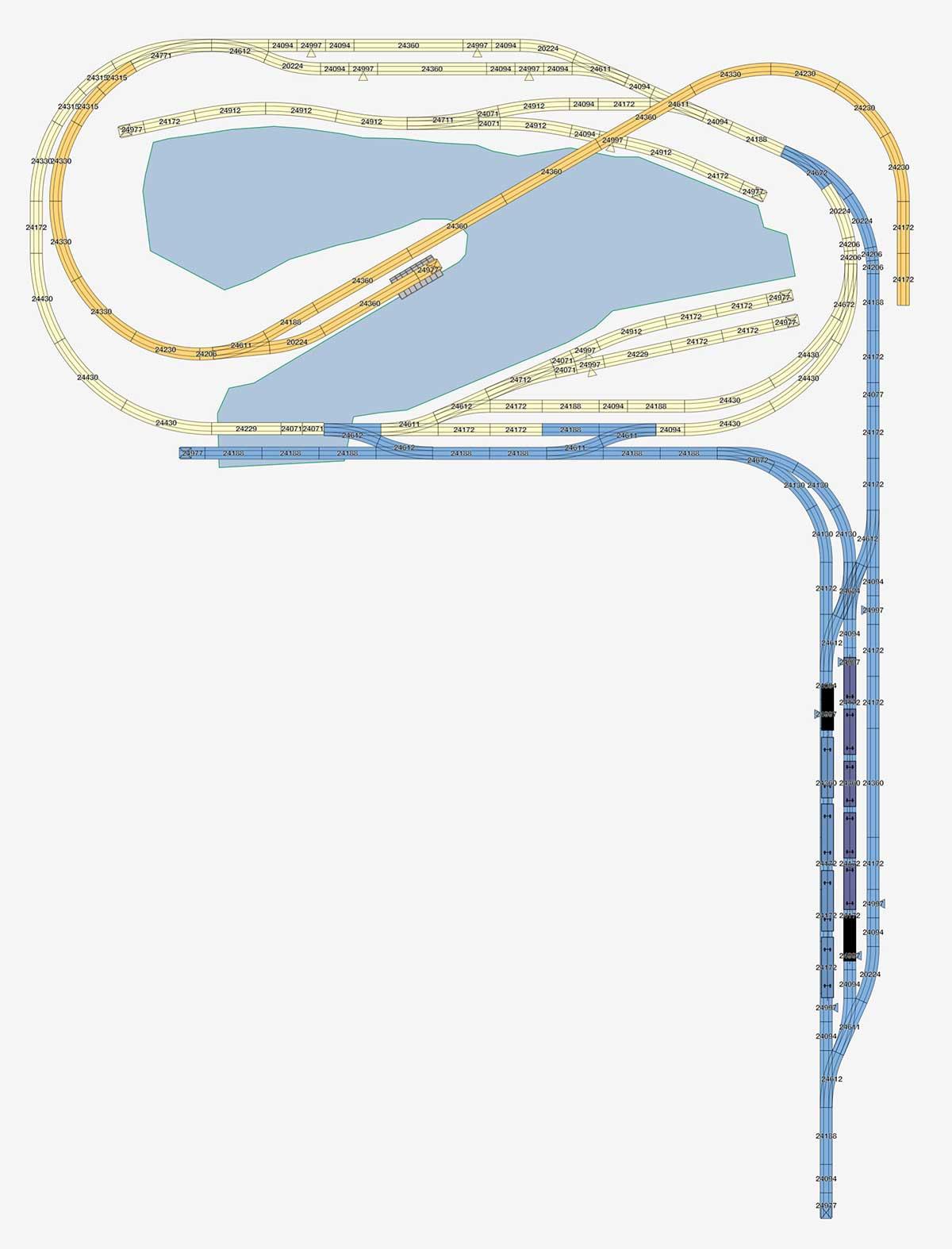 Version mit kleinem Schattenbahnhof