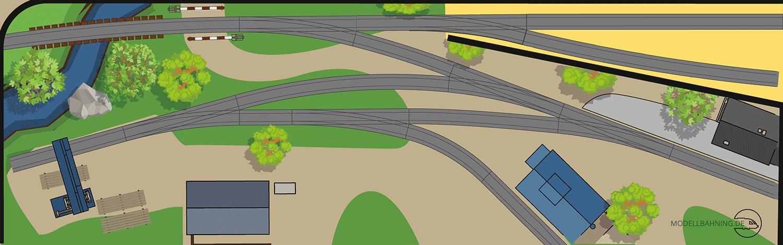 Gleisplan für ein kleines Betriebs-Diorame auf TimeSaver Basis mit dem PIKO A Gleis