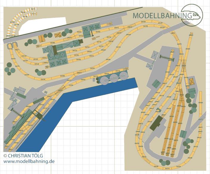 Zeche und Hafen Betriebsorientierter H0 Gleisplan