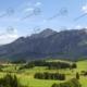 """Allgäu Teil 2 """"Wiesen vor Alpenpanorama"""" – Modellbahn Hintergrund 300cm x 70 cm 7"""