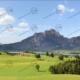 """Allgäu Teil 3 """"Forggensee"""" – Modellbahn Hintergrund 300cm x 70 cm 7"""