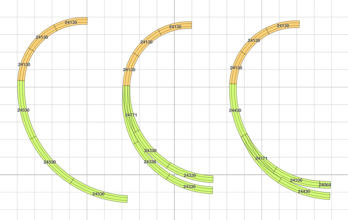 der Radientrick: Beispiele für Einsatz von C-G.ei großen Radien auf wenig Platz