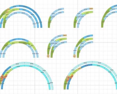 Märklin C-Gleis Geometrie: Anwendungsbeispiele der Märklin Bogenweiche