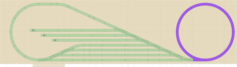 Kreisanlage mit dem Märklin C Gleis auf 3,7 x 1 m 3