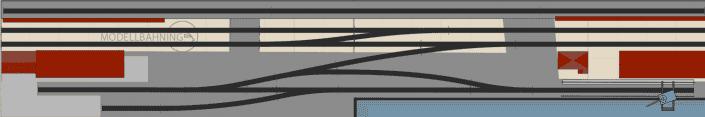 Hafen Gleisplan mit dem Peco US Code 83 Gleis