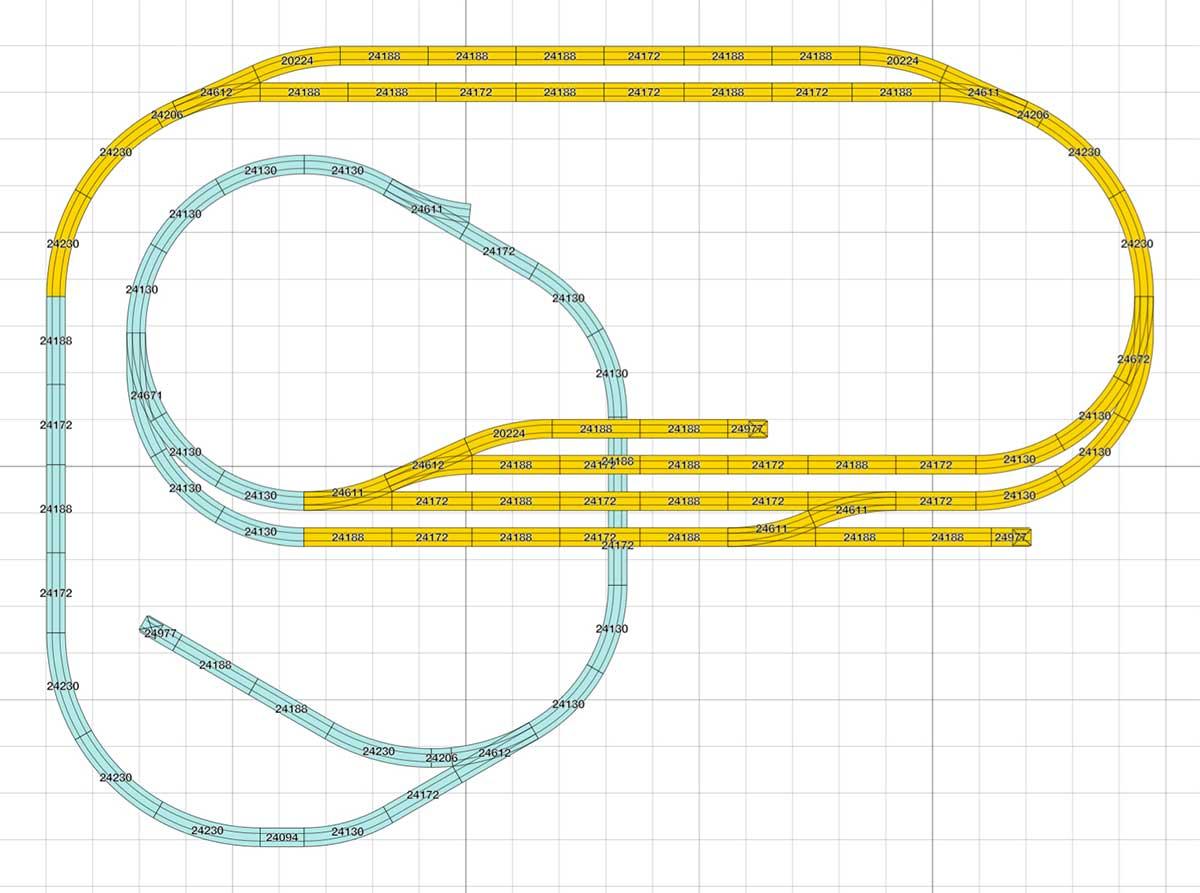 Kompakter H0 Gleisplan in L-Form
