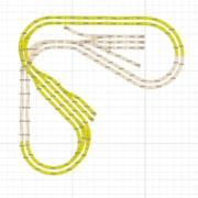 Kleine H0 Gleisanlage in L Form