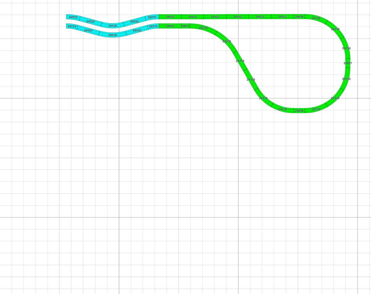 Märklin Gleisplan H0 Ausschnitt Ebene 3 Wendebogen.