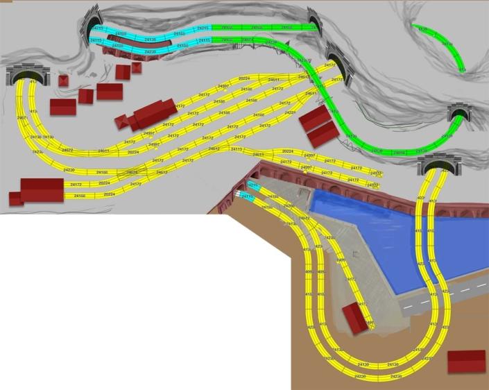 Beispiel Gestaltung für Märklin. Gleisplan H0