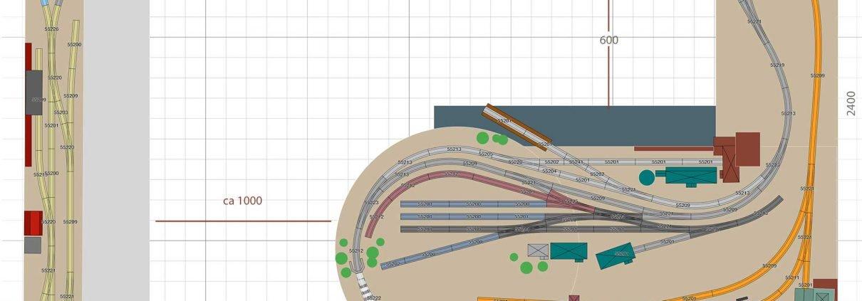 Gleisplan H0 PIKO A Gleis Rangieranlage mit Zunge