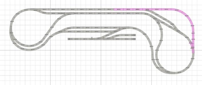 Wandanlage H0 Gleisplan mit dem Märklin C-Gleis