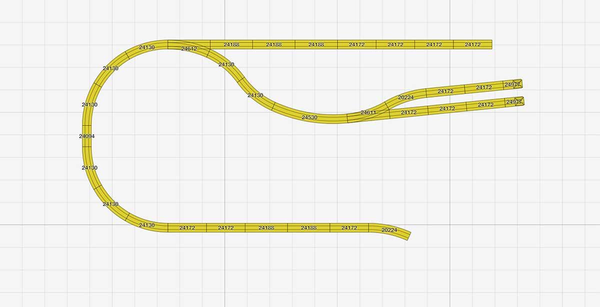 Pendelstrecke zu Kompakter H0 Gleisplan