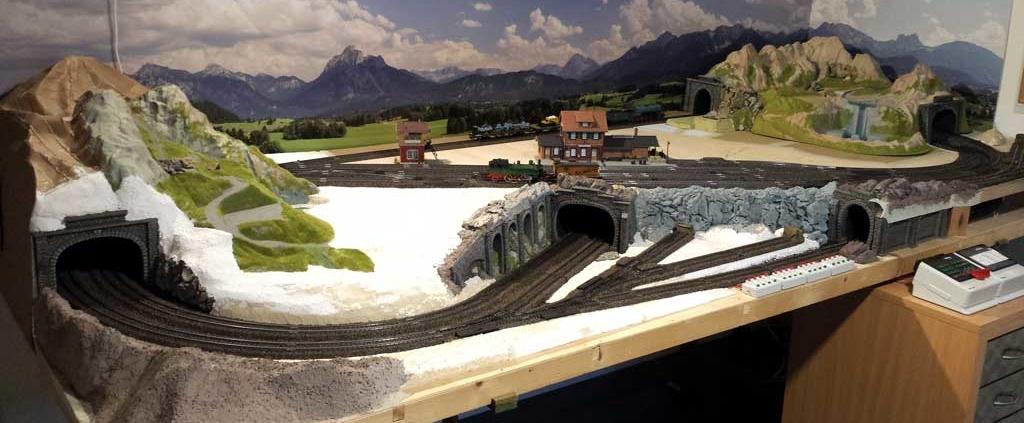 Kundenfoto: Modellbahnhintergrund von Modellbahning